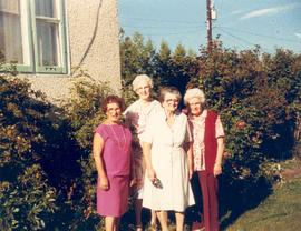 Nancy Appleby, Alberta McDonald, Annie Eherer and Berta Hees