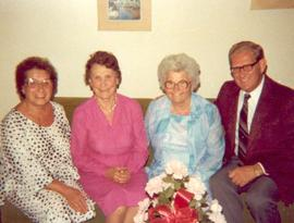 Nancy Appleby, Alice B. Donahue, Berta Hees and Ken Suitor