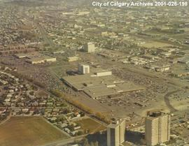 Aerial View of Chinook Centre, Calgary, Alberta