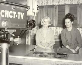 "Margo Oliver and Margaret McLaughlan on the ""Peggy Powers"" program."