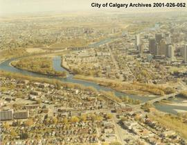 Aerial View of Calgary City Centre, Calgary, Alberta