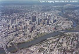 Aerial View of City Centre, Calgary, Alberta