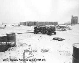 Glenmore Water Plant, Calgary, Alberta, under construction