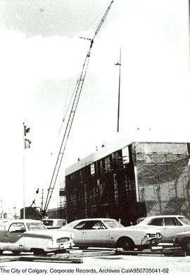 Construction of the 3rd floor of the Manchester Building.