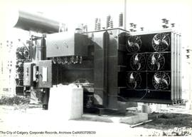 Air cooled network transformer.