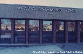 Acadia Swimming Pool Entrance, Calgary, Alberta