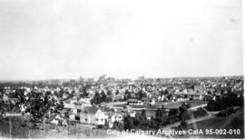 View of Calgary from the Calgary Normal School and Technical Institute, Calgary, Alberta.