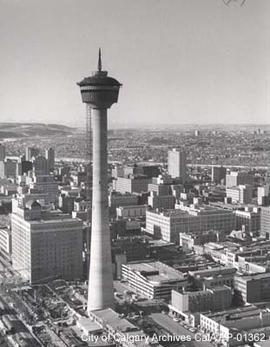 Construction of the Calgary Tower