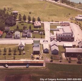 Aerial View of Heritage Park's Main Street
