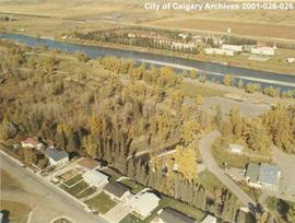 Aerial View of Bowness Park, Calgary, Alberta