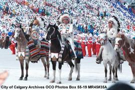 Opening Ceremonies, First Nations People on Horses