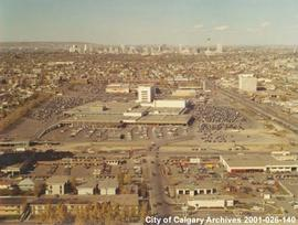 Aerial View of Chinook Shopping Centre, Calgary, Alberta