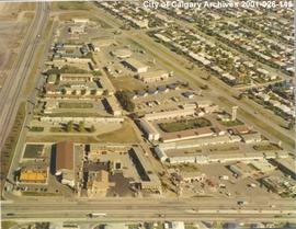 Aerial View of Motel Village, Calgary, Alberta