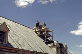 Fort Edmonton Park - Big House - chimney construction