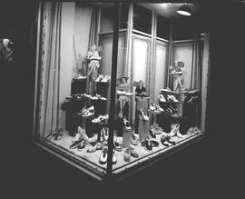 "Aboussafy & Sons window display for ""Kedettes"" shoes, Wetaskiwin, Alberta."