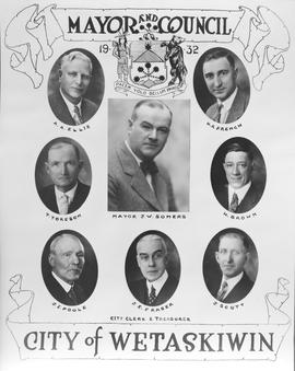 1932 Mayor and Council, Wetaskiwin, Alberta.