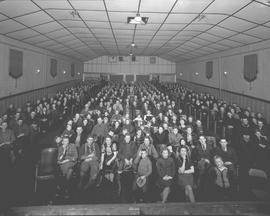 Audience in the Audien Theatre, Wetaskiwin, Alberta.