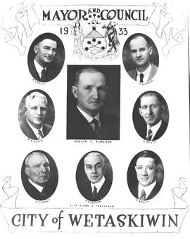 1933 Mayor and Council, Wetaskiwin, Alberta.