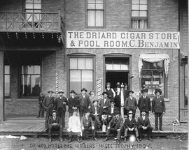 "Copy of an old portrait:  The Driard Hotel's ""Best Baseball Club,"" winners of the ..."