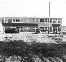 A.H. Dakin School under construction, Edson, Alberta.