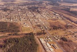 Aerial view looking East , Edson, Alberta.