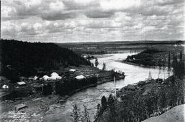Wolf Creek McLeod River from the GTPR, Alberta.