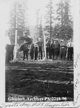 Sports day, Northwest Territories prospectors' picnic, Great Bear Lake, Northwest Territories.