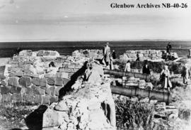 Cannons on the battlements facing Hudson Bay at Fort Prince of Wales, a Hudson's Bay Company...