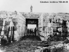 Gateway (restored), interior view, at Fort Prince of Wales, a Hudson's Bay Company (HBC) for...