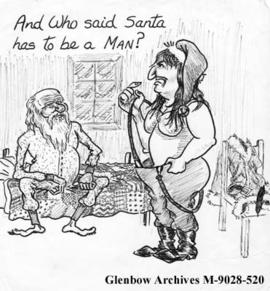 """And Who said Santa has to be a MAN?"""