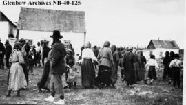 Ojibwa at Hudson's Bay Company (HBC) post, Long Lake, Ontario.