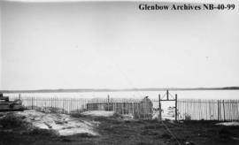 Looking across Long Lake, Ontario, from Hudson's Bay Company (HBC) post.