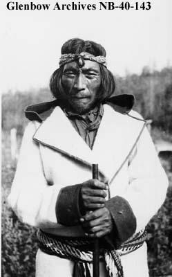 Pacequan, Ojibwa(?) medicine man, Long Lake area, Ontario.