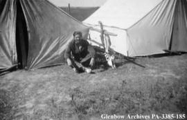Abraham Maslow on the Blackfoot (Siksika) reserve, Alberta.