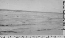 View at the foot of rapids on the Slave River, Fort Smith, Northwest Territories.
