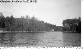 """Entrance to Pipestone Bay, north end of Lac la Ronge"", Saskatchewan."