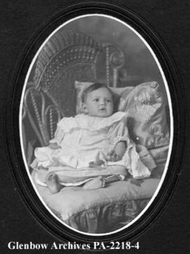 Baby portrait of James Brady.
