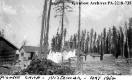 """Pioneer camp, Nistowiak"", Lake, Saskatchewan."
