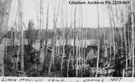 """Glenn Uranium camp"", probably in Saskatchewan."