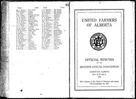United Farmers of Alberta's convention minutes