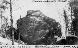 """Glacial erratic, McTavish Lake"", Saskatchewan."