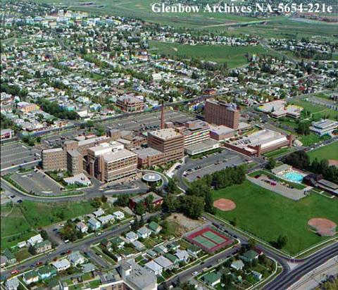Aerial View Of Calgary General Hospital And Area Calgary