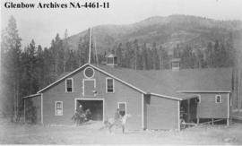 Livery stable, southern Alberta.
