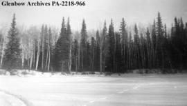 """Central Geophysics Camp at Setting Lake"", Manitoba."