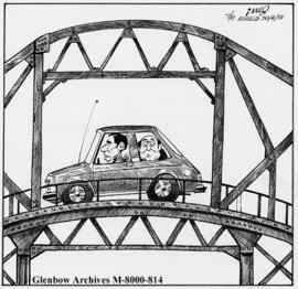 """If a pothole is too big in this city, we find it cheaper to build a bridge over it!"""