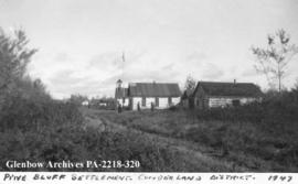 Pine Bluff Settlement, Cumberland District, Saskatchewan.