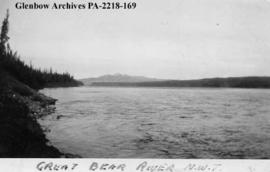 View of Great Bear River, Northwest Territories.