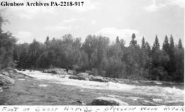 """Foot of Scoop Rapids - Sturgeon-weir River"", Saskatchewan."
