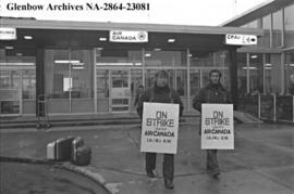 Air Canada machinists on strike, Calgary, Alberta.