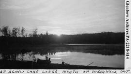 """At Agnew Lake Lodge, north of Webbwood, Ontario""."